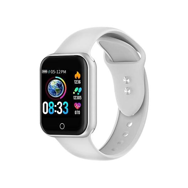 Reloj Inteligente, 1.4 Inch Smartwatch with Monitoreo de presión Arterial, Pulsómetro Impermeable IP68 Pulsera Actividad con Inteligente de Podómetro y Monitoreo del Sueño para Android y iOS 2