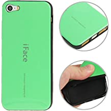 The fly Shop – Carcasa para iPhone 5 5S SE/Funda fina de silicona flexible iFace verde con bordes negros perfettamente ajustada Cas