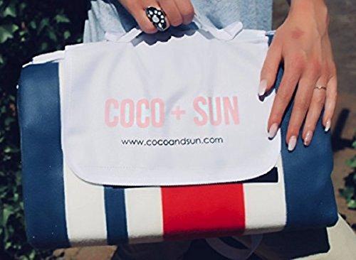 Coco + Sun hochwertige XXL Picknickdecke 200 x 200 cm - wärmeisolierte wasserdichte und waschbare Premium Outdoordecke für die ganze Familie (Mehrfarbig)