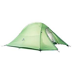 Naturehike Cloud-up ultra-leggero 2 persona doppio strato tenda Tende da escursioni (210T verde)