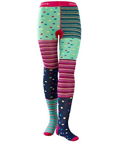 Ewers Mädchenstrumpfhose Strumpfhose Markenstrumpfhose Kleinkind Baby gepunktet gestreift für Kinder (EW-901004-S17-MA2-1726-134/146) in Pink, Größe 134/146 inkl. (Outfit Günstige Schule Mädchen)