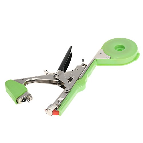 Anself Agriculture Vine Tape Tool Hand Tying Machine for Fruit Vegetable Stainless Steel (Green) Test