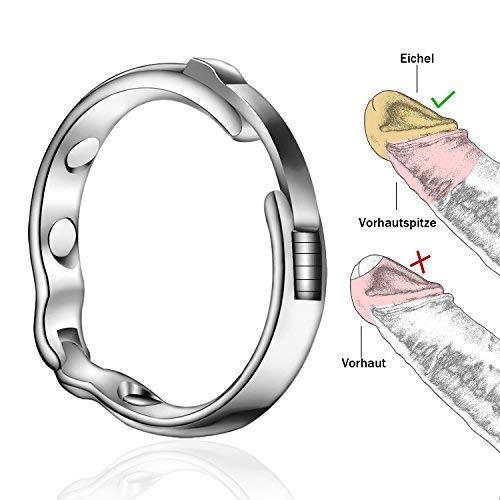 Greenpinecone® Ø 27-30mm Metall Penis Ring für die Behandlung von Vorhaut mit Magnet-Therapie