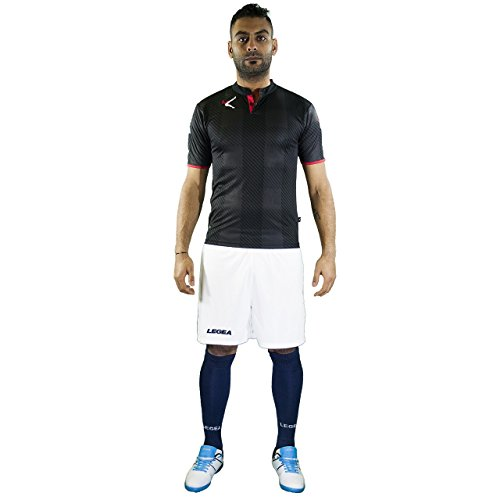 kit-legea-oporto-completino-calcio-calcetto-giocatore-torneo-sport-allenamento-partita-nero-rosso-l