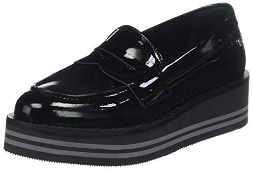 MODERN Flatform Loafer Slipper, Schwarz (Black 990), 40 EU ()