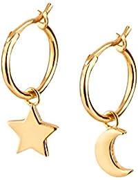 Earrings gold by BRANDLINGER SCHMUCK. Creole earrings made of 925 sterling silver and 14K gold plating. Handmade earrings gold girls, designed in Germany.