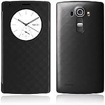 LG G4 Funda, Aimson Smartphone LG Reemplazo Círculo Rápido Funda Trasera con carga inalámbrica Qi Con NFC (negro)