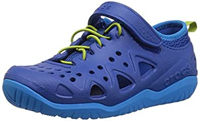 crocs Swiftwater Play Shoe Kids 204989 Kinder Allround-Schuhe, Blau (Blue Jean), Gr. 29-30 EU/12 US C