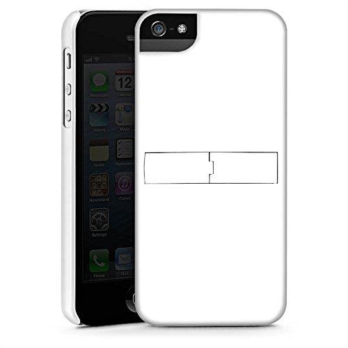 Apple iPhone 5 Housse Étui Silicone Coque Protection Blanc Blanc Blanc CasStandup blanc