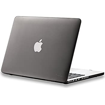 """Kuzy - Retina 13-Inch GRAY/SMOKE Rubberized Hard Case Cover for Apple MacBook Pro 13.3"""" with Retina Display Models: A1502 and A1425 (NEWEST VERSION) - GREY"""