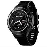Four Smart Watch, Sports Bluetooth Watch Triathlon Heart Rate Monitor Multifunktion Outdoor Sports Mountaineering Watch Kompass Altimeter Barometer Outdoor Equipment