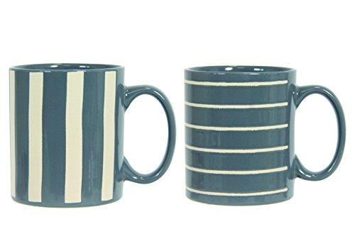 Novastyl 8017714 Lot de 6 Mugs, Céramique, Bleu, 41 x 8,5 x 9,8 cm