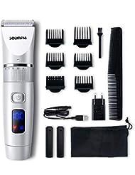 Solimpia Tondeuse à Cheveux pour Homme Tondeuses a Barbe Electrique Homme Rasoir Couper Cheveux Ecran LED Sans Fil USB Rechargeable Imperméable