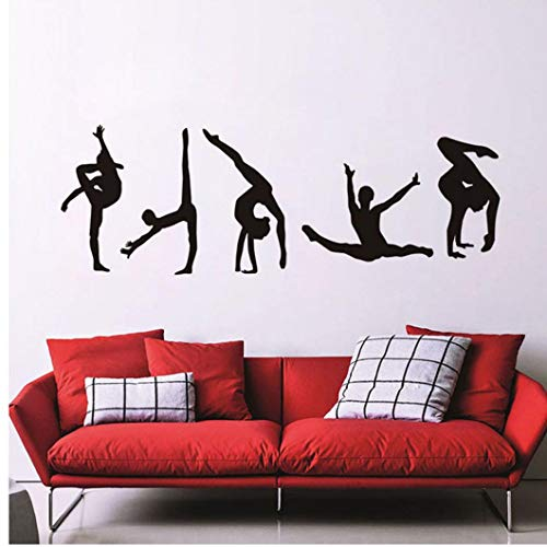 PiniceCore Wall Art Stickers Classic 5 Modelle Moderne Gymnastik Tanzen Muster Vinylwand-Aufkleber-Ausgangsdekoration Dekor Supplies