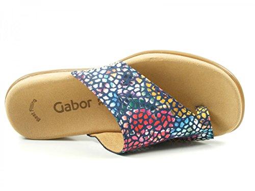 Gabor Damen Fashion Pantoletten River Flower Stamp