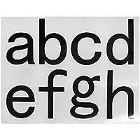 Pegatinas de números Aspire con números autoadhesivos 0-9 letras a-h, 6SIN-LG0030_ATOH-10PCS, A To H, 10 piezas