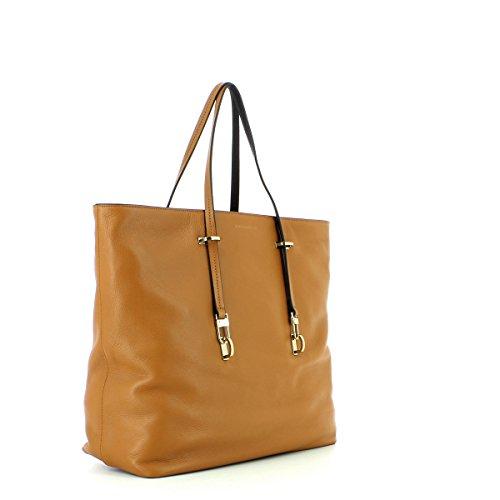 Coccinelle Iggy Shopper tasche Leder 35 cm Cuoio / Nero (Braun)