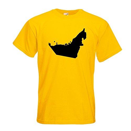 Kiwistar Vereinigte Arabische Emirate T-Shirt in 15 Verschiedenen Farben - Herren Funshirt Bedruckt Design Sprüche Spruch Motive Oberteil Baumwolle Print Größe S M L XL XXL
