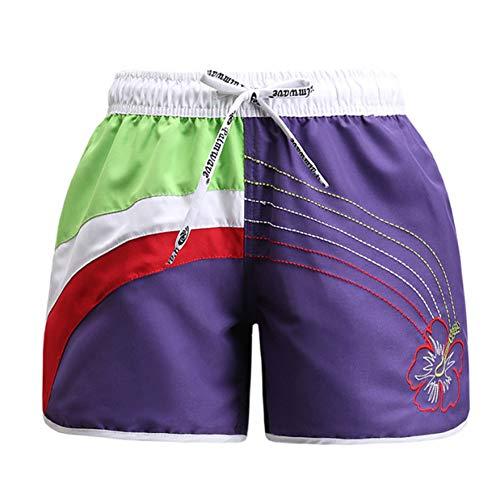 Plus Size Stretch-twill Shorts (DBLSHA Sommer Frauen Casual Shorts Elastische Kontrastfarbe Weibliche Shorts Plus Size Strand Trocknen Schnell Shorts)