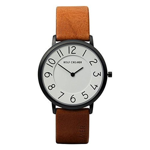Uhr - Gent - hellbraun/schwarz