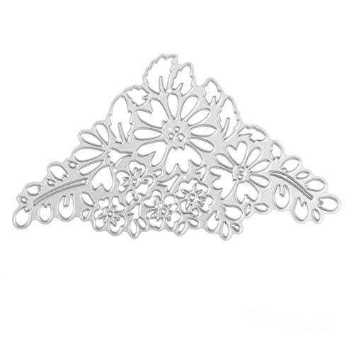 Mikolot Metallstanzschablonen Schablonen Blumen Prägeschablone für DIY Scrapbook Foto Album Karten machen Flower Crown