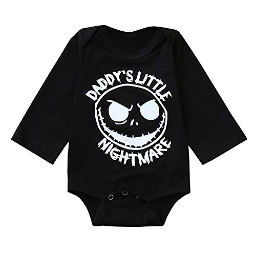 Baby Strampler Junge Mädchen Kinder Langarm Halloween Kostüm Top Baby Kleidung Set Kleinkind Baby Mädchen Halloween Grimasse Party Kleidung Kinderoverall (Stiefel Strampler Kleinkind Kostüm)