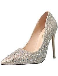 De MujerY esDorado Zapatos Tacón Para Amazon USGMqVpLz