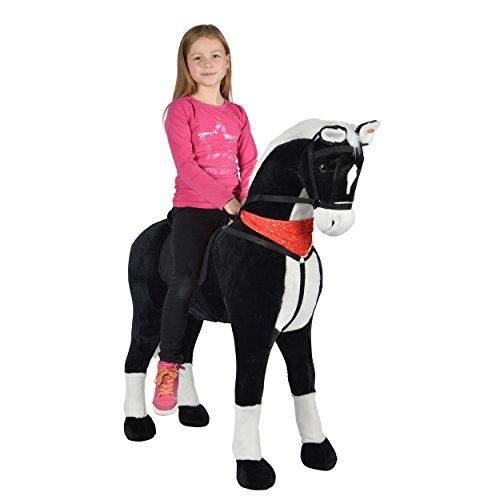 Pink Papaya Giant XXL Kinderpferd Amadeus 125 cm Plüschpferd, Fast lebensgroßes Spielzeug Pferd zum Drauf sitzen bis 100kg belastbar mit Sounds