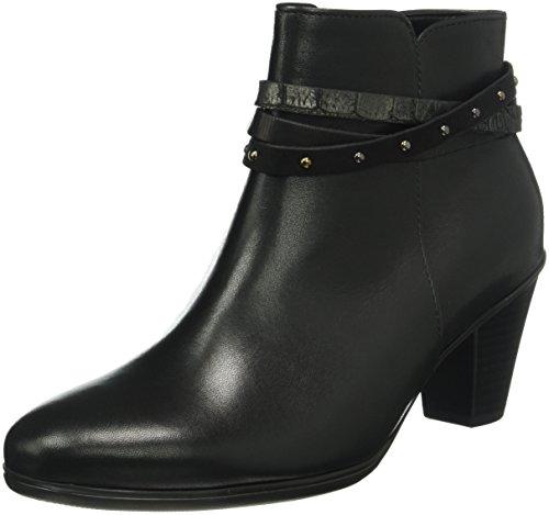 Gabor Shoes 55.611 Damen Kurzschaft Stiefel, Schwarz (Schwarz KOMBI 57), 41 EU (7.5 Damen UK) (Suede Boot Studded)