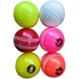 ANS Winpro Heavy Cricket Wind Ball (Multicolour) - Pack of 3 Balls { Each Weighs 135 Grams }
