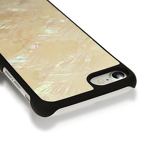 Apple iPhone 8 / 7 Hülle Muschel Handyhülle von NICA, Echtes Perlmutt Slim Case Schutz 3D Hardcase, Dünner Glitzer Handmade Bumper Cover Etui Backcover Handy-Tasche für iPhone 7 / 8, Farbe:Weiß Weiß