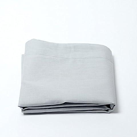 Drap housse 57 fils/cm² 180 x 200 cm Gris Clair pour lit
