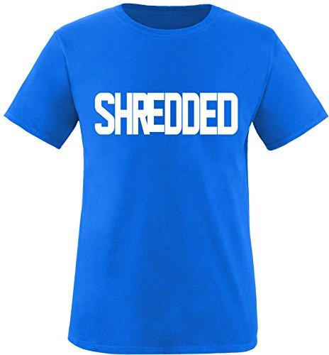 EZYshirt® Shredded Herren Rundhals T-Shirt Royal/Weiss