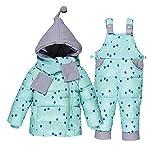 Winter Für Jungen Mantel Mädchen Skianzug Kinder Kleidung Set Baby Ente Daunenjacke + Hosen Overalls Warme Kinder Kleidung Schneeanzug 0-3 Jahre Alt,D,90Cm