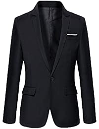 Y-BOA Veston Blazer Tailleur Homme Slim Business/Casuel Smoking Vintage
