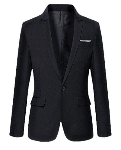 BELLA-Giacca da Uomo Manica Lunga Abbigliamento Uomo Nero Busto 108cm