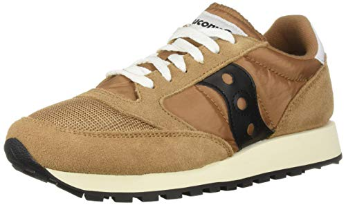Saucony Jazz Original Vintage, Zapatillas para Hombre, Marrón (Brown/Black 47), 43 EU