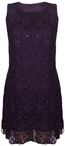 H&F Girls - Robe - Femme XX-Large Violet