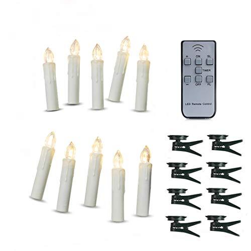 batteriebetrieben Fernbedienung Hochzeit LED Kerzen Taper Kerzen geeignet für Hotels, Bars, Home, Kirchen, Tempel, Weihnachten Tag ()