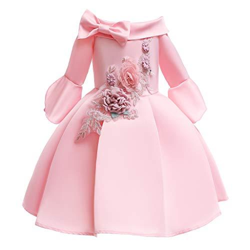 Longra KinderLangarm Mädchen Prinzessin Spitze kinderkleidung Ramadan Muslim Brautjungfer Pageant Kleid Princess Dress Mädchen Prinzessin Cinderella Schmetterlinge (Disney Princess Cinderella Kostüme)