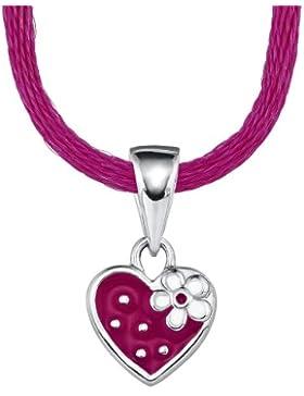 Prinzessin Lillifee Kinder-Halskette Halsband pink mit Anhänger Herz Erdbeere Silber 925 längenverstellbar