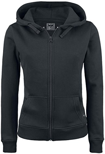 Black Premium by EMP Basic Zipper Felpa jogging donna nero 5XL
