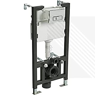 CYCLONE CONCEALED UNIVERSAL 1.0 - 1.2M WALL HUNG WC FRAME AND CISTERN WITH FLUSH PLATE