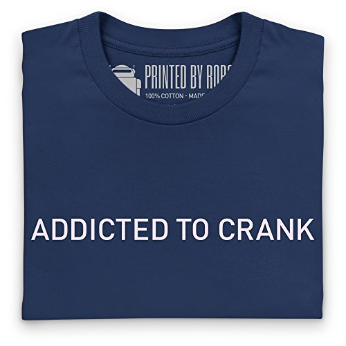 Cycling - Addicted to Crank T-Shirt, Herren Dunkelblau