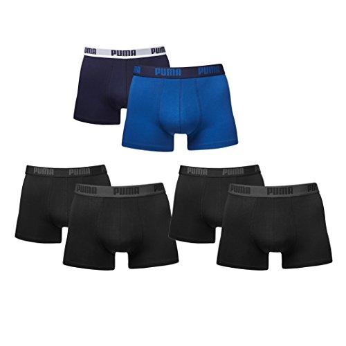 Puma Herren Boxer Boxershorts im Farbmix. 6er Pack neue Kollektion Schwarz/Blau