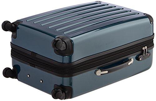 HAUPTSTADTKOFFER - Alex - 2er Koffer-Set Hartschale glänzend, TSA, 65 cm + 55 cm, 74 Liter + 42 Liter, Orange-Aubergine Waldgrün