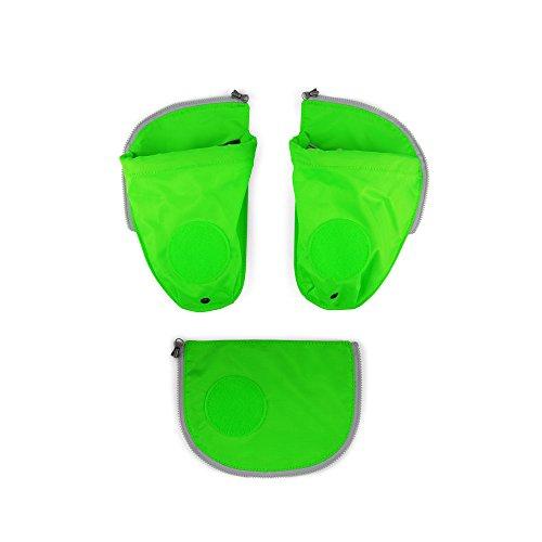 Ergobag Zubehör und Accessoires Sichherheitsset Pack 3-tlg mit Seitentasche Grün 213 grün