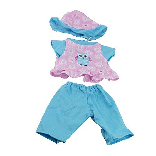 Homyl Handgemachte Babypuppe Kleidung Bekleidung Set für 43cm Baby Puppe - # 1