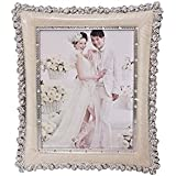 "OAF Exclusive & Designer Table Top Photo Frame| Photo Frame For Table Decoration| Photo Frame For Couple (Size 8""x 10"" , Colour- Cream)"