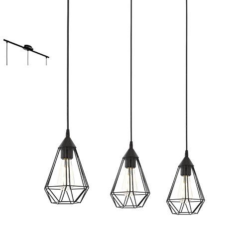 Eglo Lampe Suspension E27 L-790 'Tarbes'(Noir Mat)